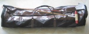 Large black canvas stickbag