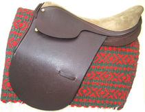 Leather and Suede Saddle