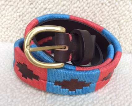 Polo Belt - light blue/pink