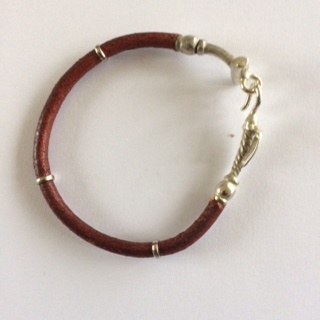 Leather & Alpaca  Polo Stick Bracelet