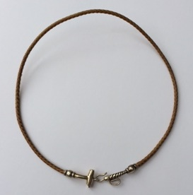 Rawhide necklace with Polo Stick clasp