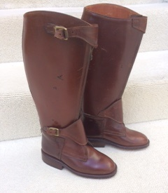 Dark Brown Zipped Polo Boots