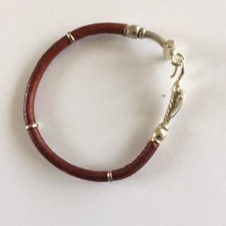 Leather & Alpaca  Polo Stick Bracelet