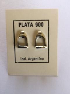 Silver Stirrup Ear rings
