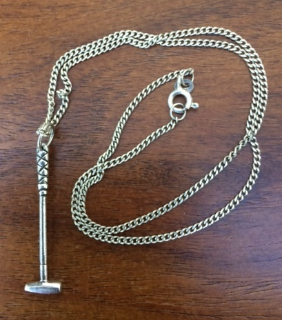 Silver Polo Stick Charm with Silver Chain